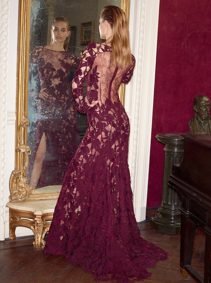 Nina Ricci Macramé Lace Gown