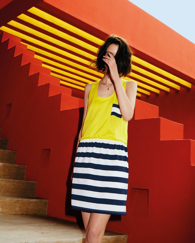 Petit Bateau Stripe Contrast Cotton Dress