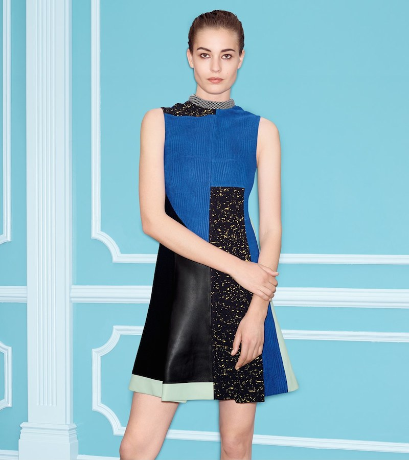 Proenza Schouler Flared Patchwork Dress
