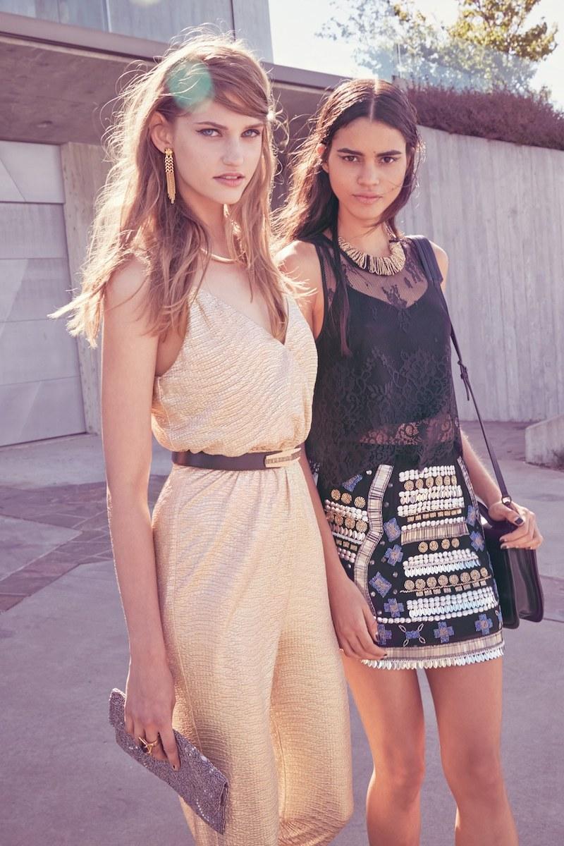 Raga Beaded Miniskirt