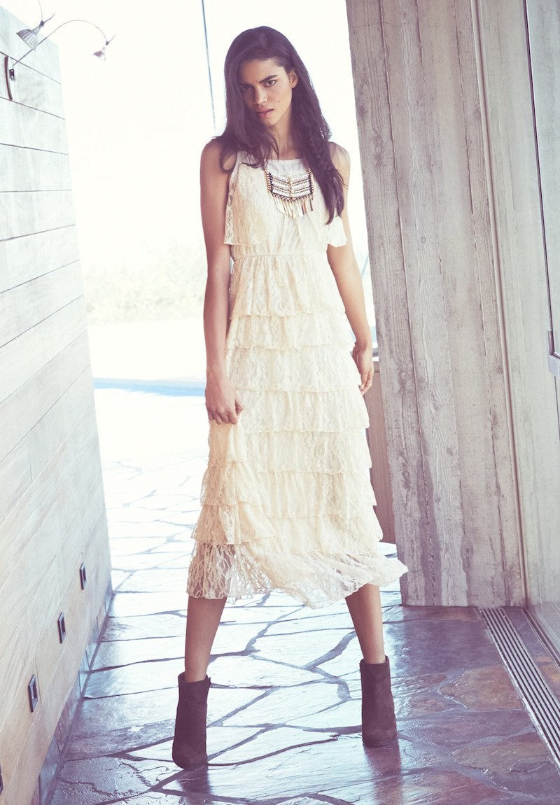 Raga Lace Tiered Maxi Dress
