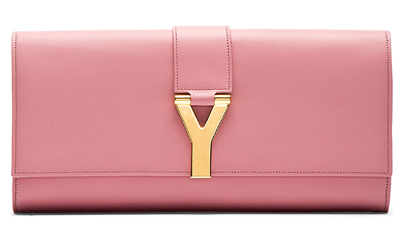 Saint Laurent Rose Ligne Y Clutch