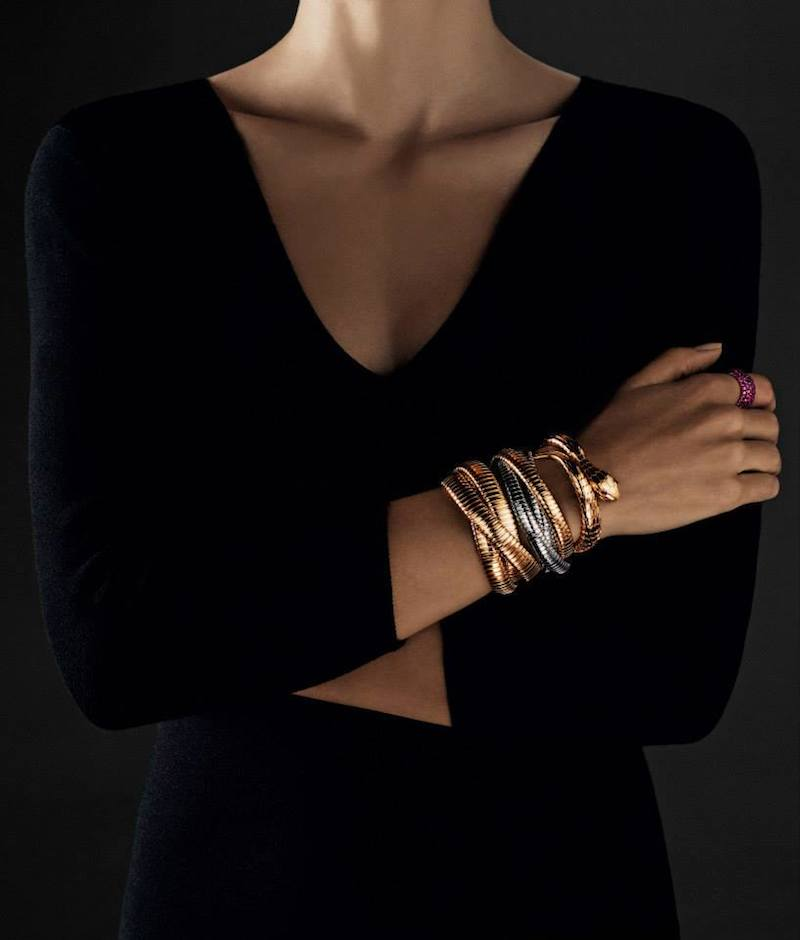 Sidney Garber Gold Three-Band Rolling Bracelet