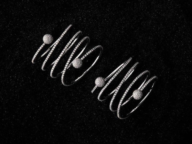 Sidney Garber Pavé Diamond Coil Bracelet