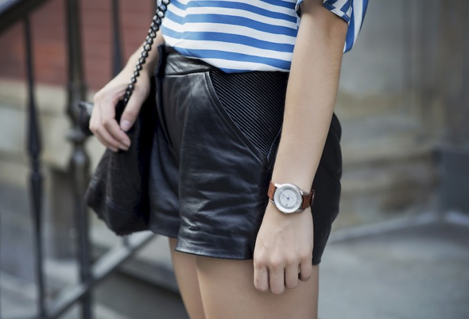 Ted Baker DEVICA Leather shorts