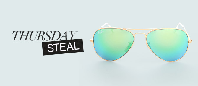 Thursday Steal: $105 Ray-Bans at Belle & Clive