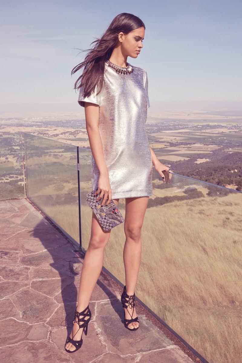Wayf Metallic Minidress