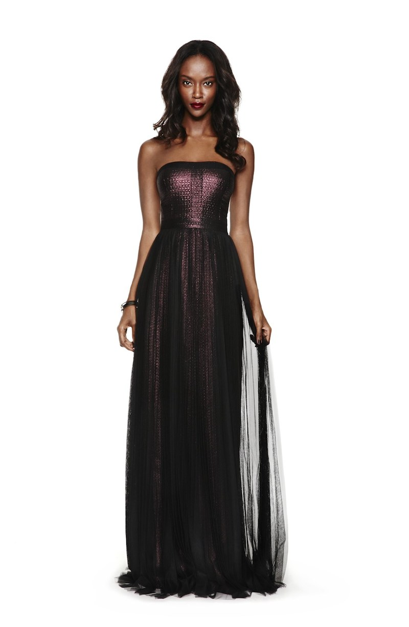Adrianna Papell Shimmer Jacquard Gown
