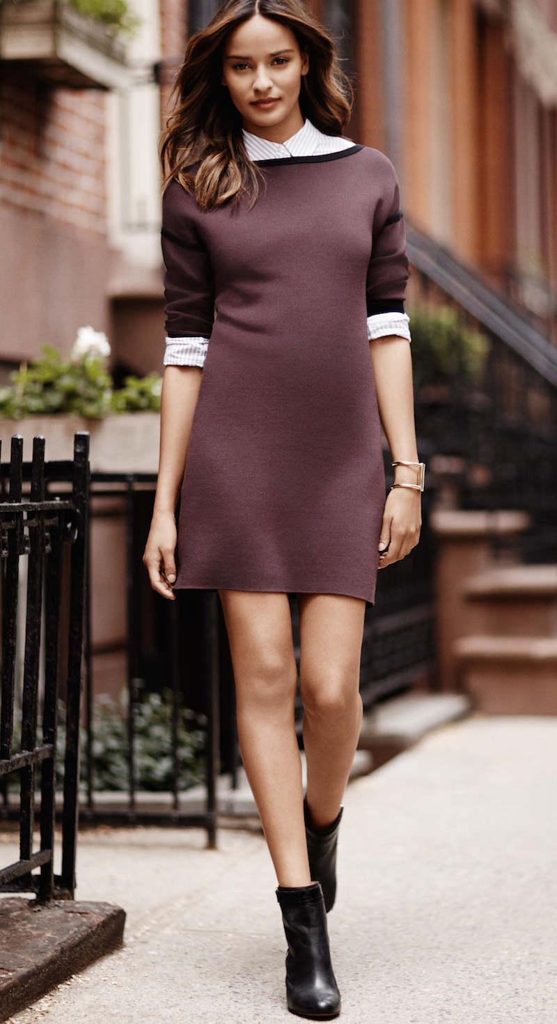Ann Taylor Drop Shoulder Sweater Dress