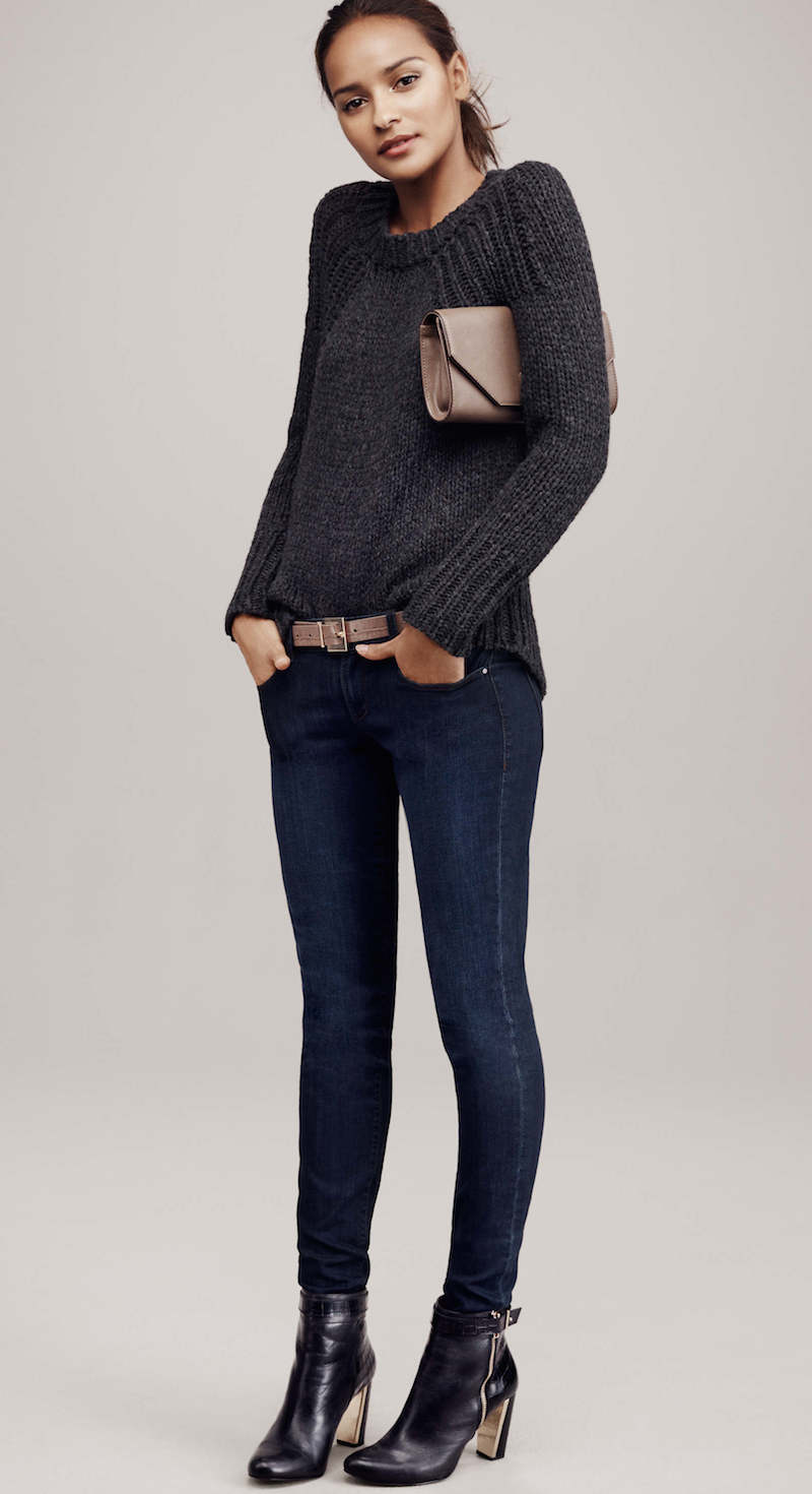 Ann Taylor Textured Knit Sweater