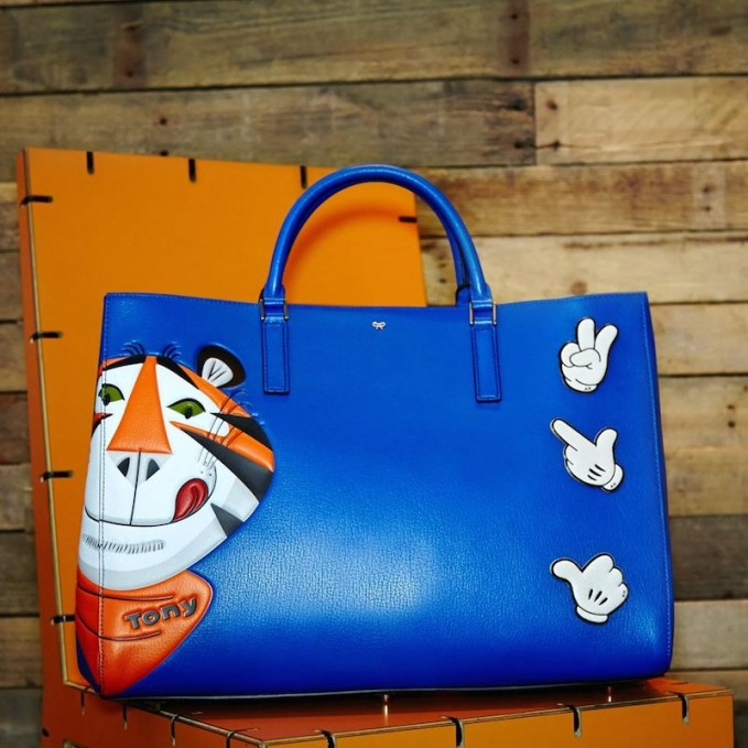 anya hindmarch frosties maxi featherweight ebury tote with stickers nawo. Black Bedroom Furniture Sets. Home Design Ideas