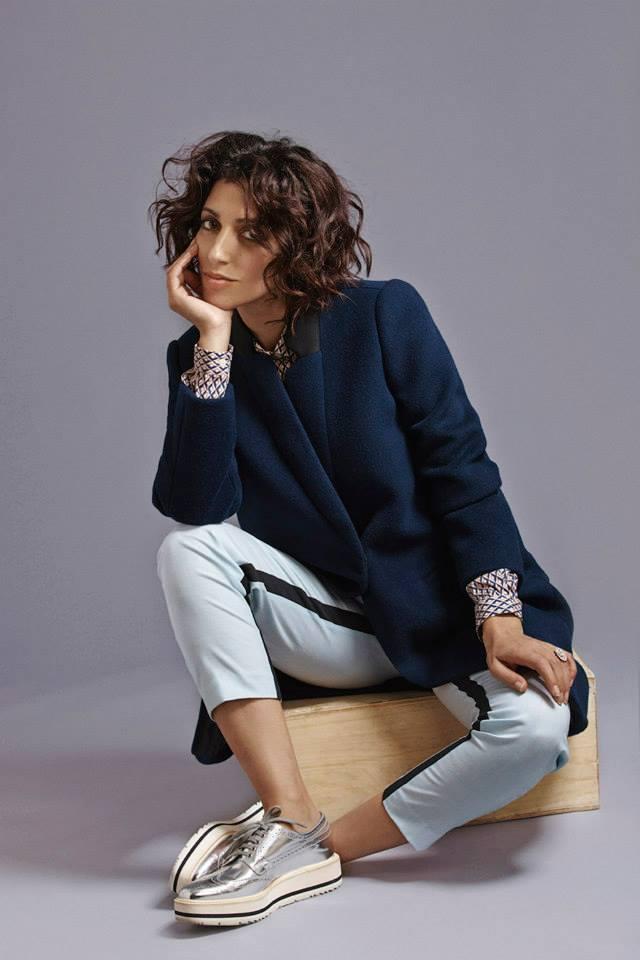 Barneys New York x Yasmin Sewell Bonded Wool Contrast Collar Coat