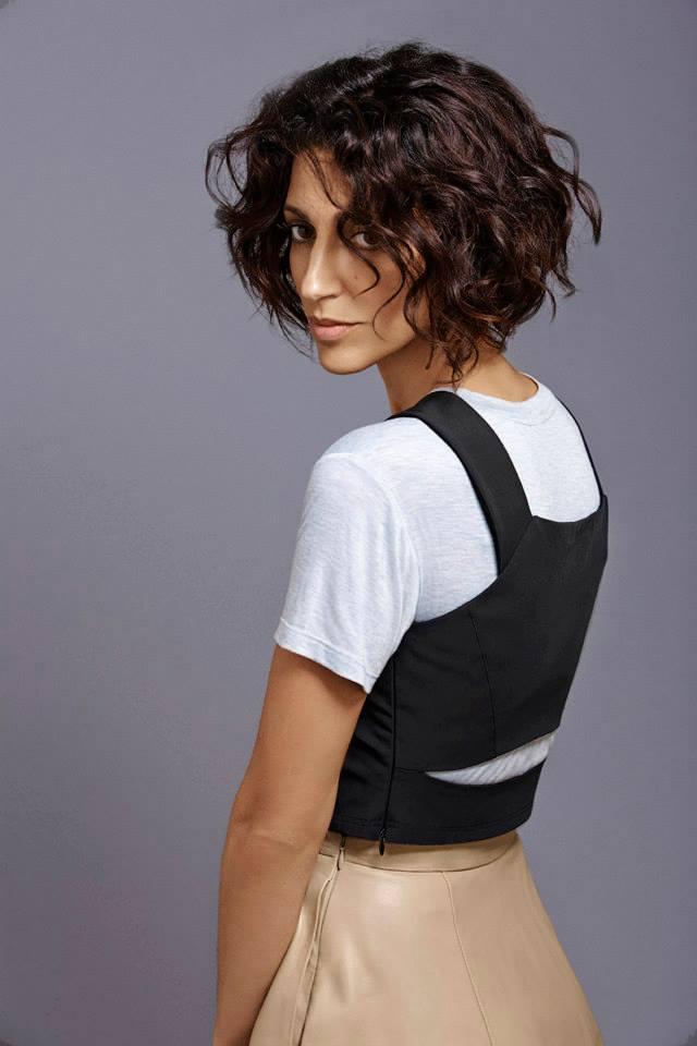Barneys New York x Yasmin Sewell Taffeta Bustier Cropped Top