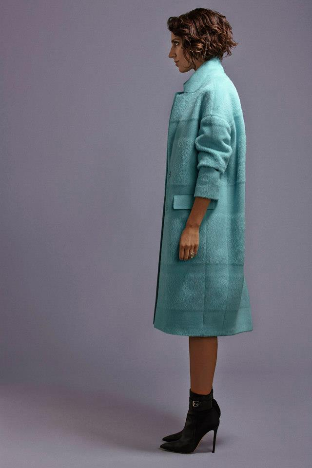Barneys New York x Yasmin Sewell Textured-Stripe Oversized Coat
