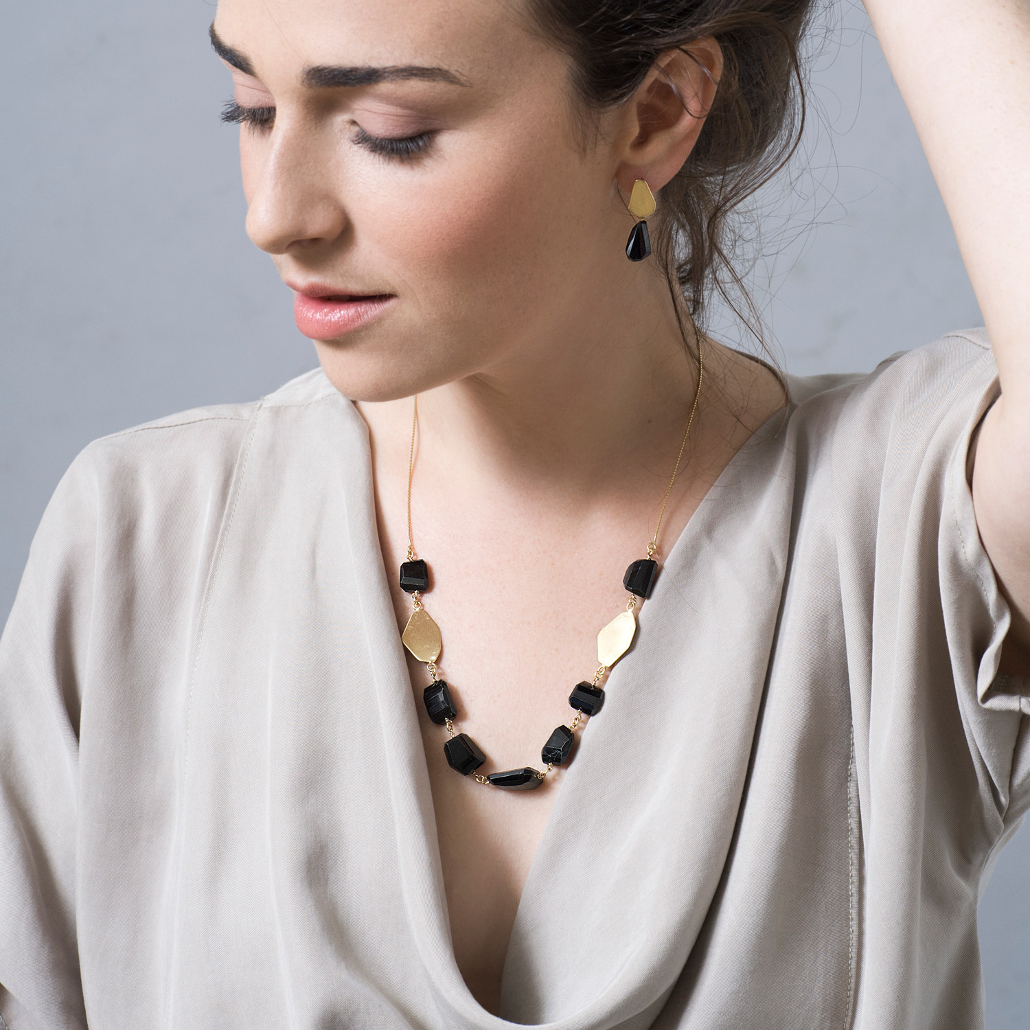 TheFORMA Black Onyx Nuggets Necklace