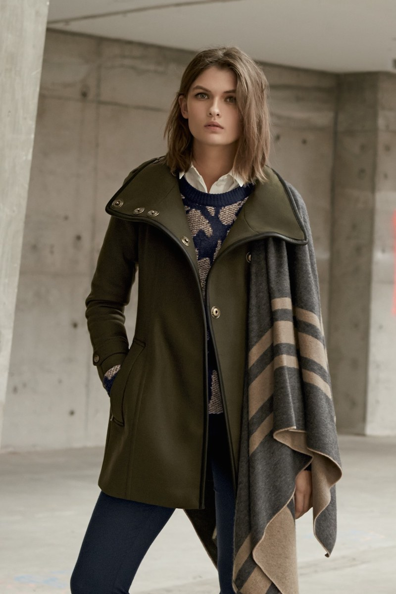 Burberry Brit Waltford Belted Wool Blend Coat