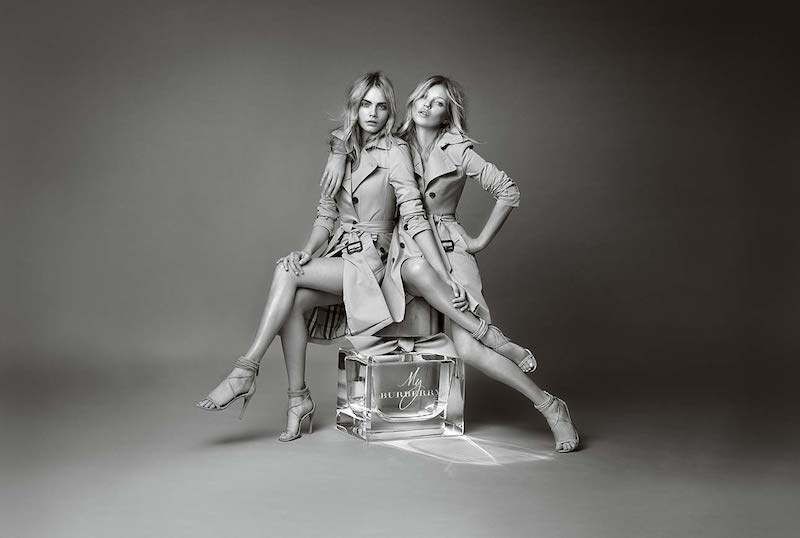 Burberry My Burberry Eau de Parfum AD Campaign feat. Kate Moss and Cara Delevingne