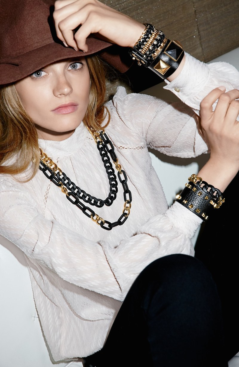 Cara Studded Faux Leather Cuff