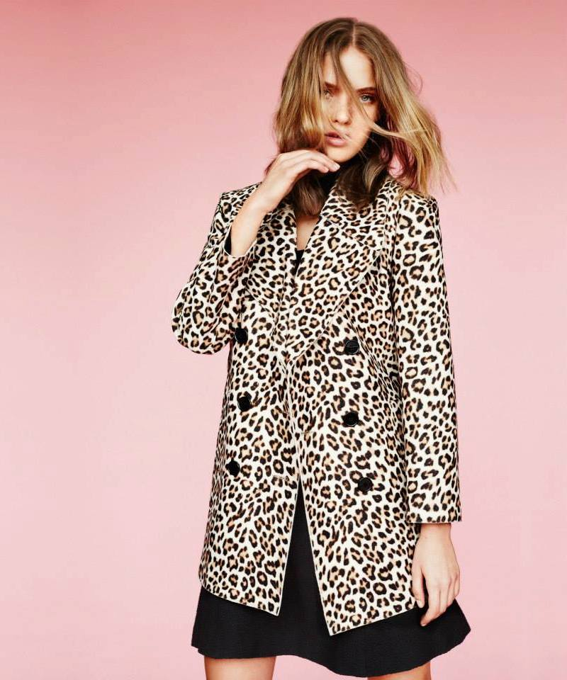 Carven Leopard-Spot Double-Breasted Coat