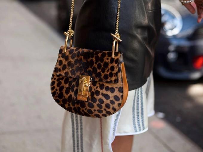 Chloé Drew Small Calf-hair Shoulder Bag