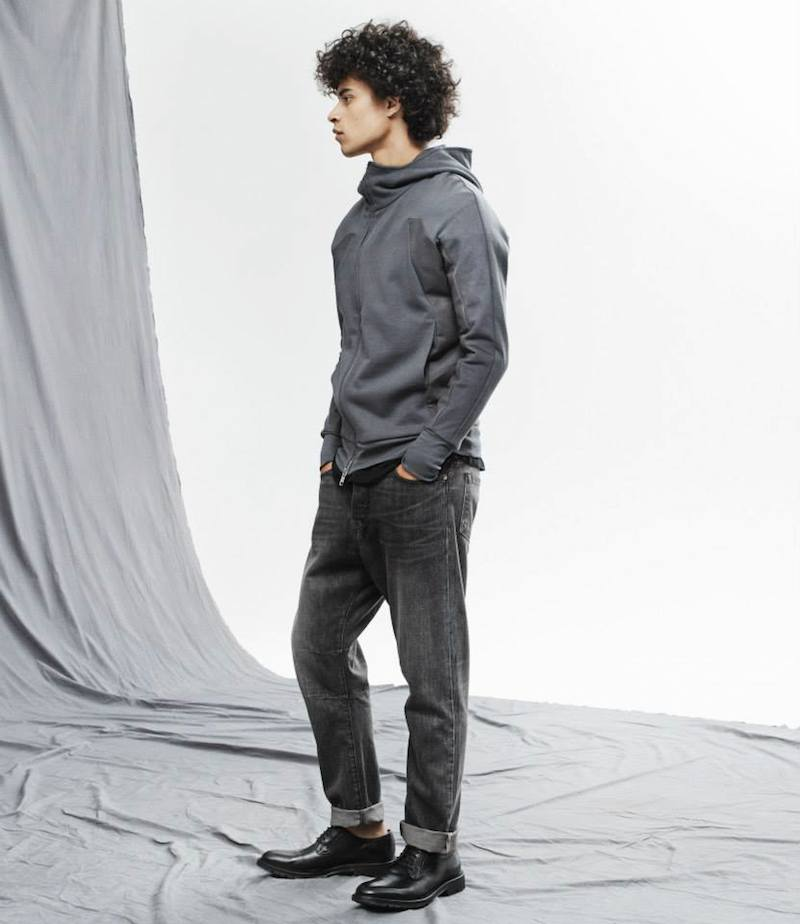 DEN IM Twill-Panel Stealth Hoody