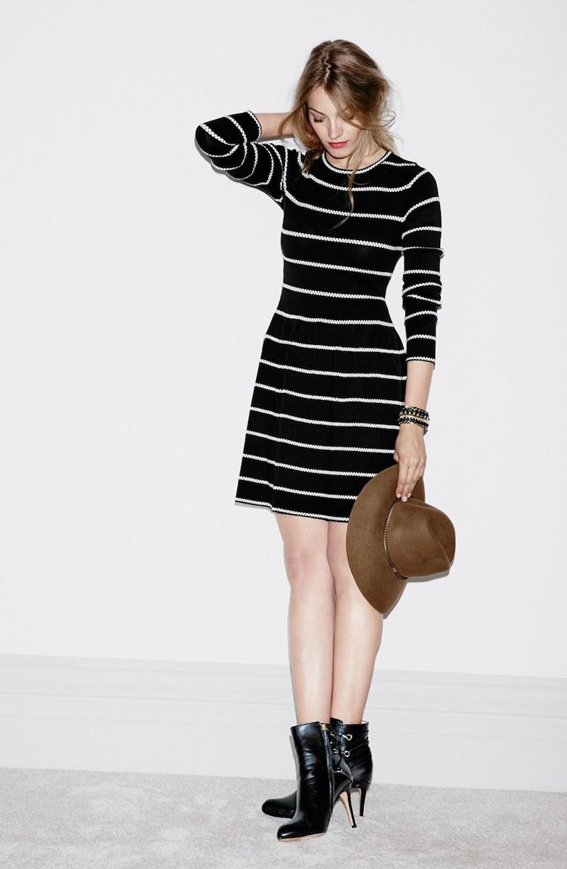 Eliza J Knit Fit & Flare Dress