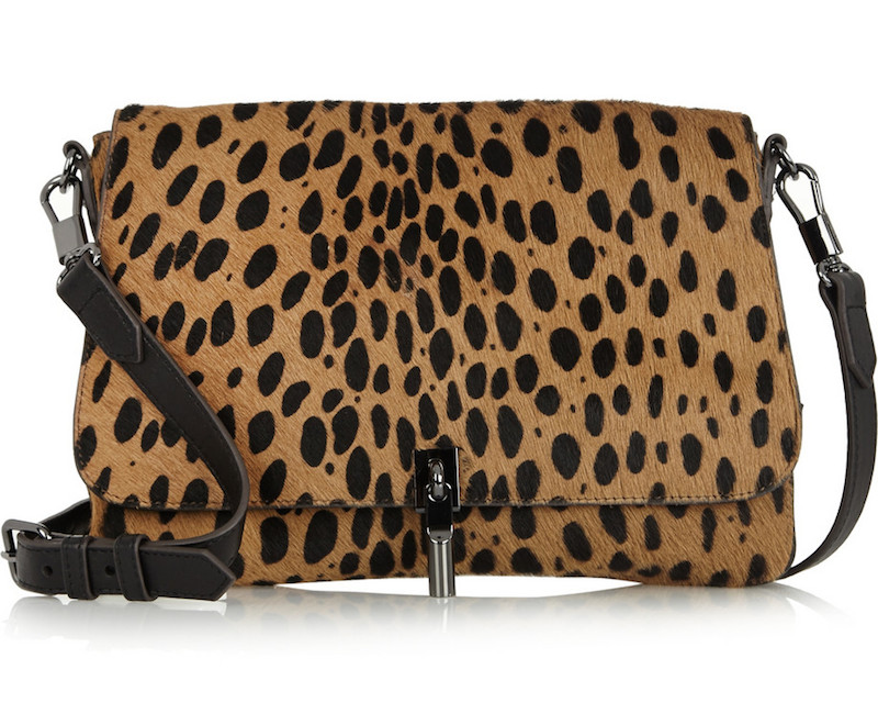 Elizabeth & James Cynnie Mini Leopard-print Calf Hair Shoulder Bag