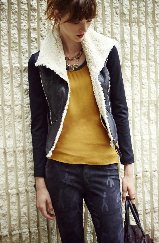 Ella Moss Vegan Mixed Media Jacket