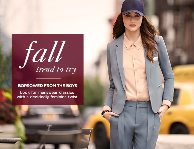 Fall Trend to Try: Borrowed from the Boys at MYHABIT