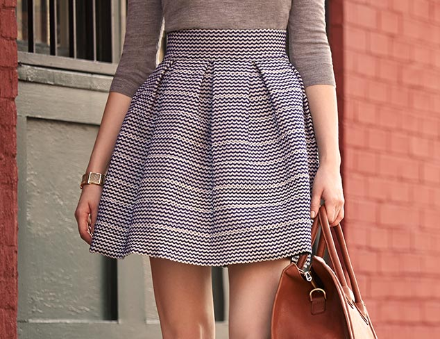 Fall Trend to Try: Pencil & Flared Skirts at MYHABIT