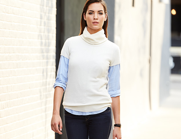 Fall Whites: Tops, Pants & More at MYHABIT