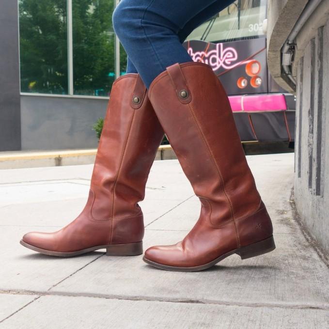 Frye Melissa Button Riding Boot