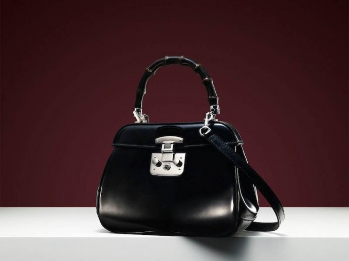 Gucci Lady Lock Mini Leather Top Handle Bag