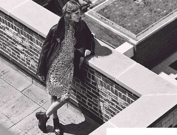 Helmut Lang Deep Slit Dress