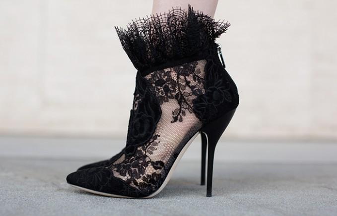 JIMMY CHOO Kamaris Lace Ankle Bootie