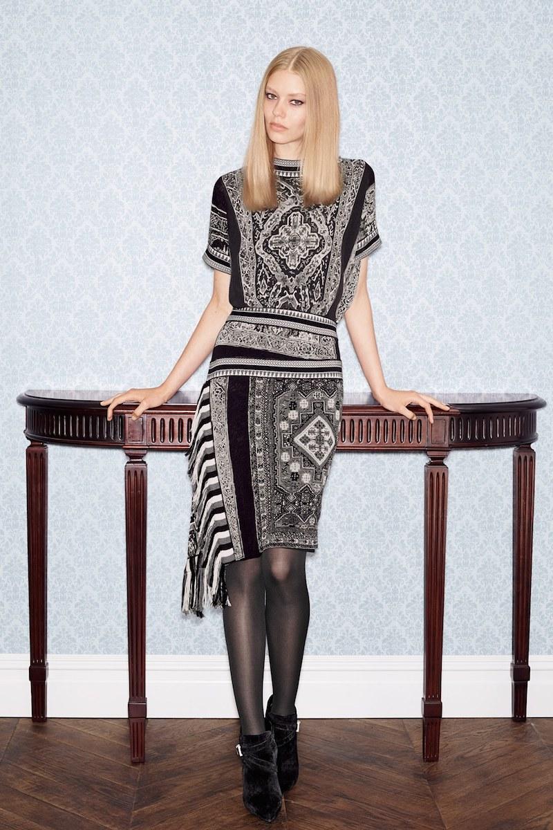 Jean Paul Gaultier Soleil Print Asymmetrical Fringe Dress