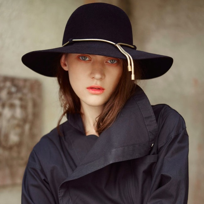 Lanvin Chain-Embellished Capeline Hat