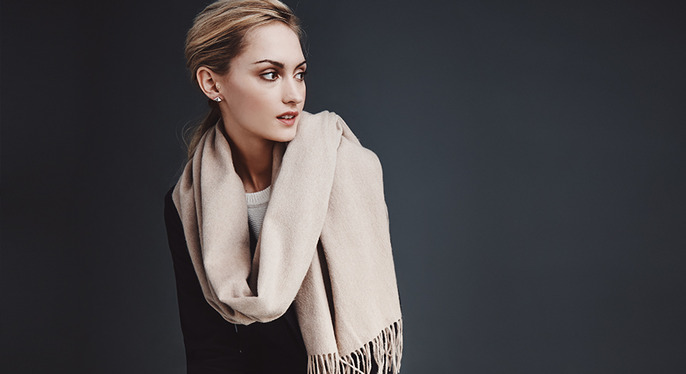 Luxe Cashmere Wraps Feat. Amicale at Gilt