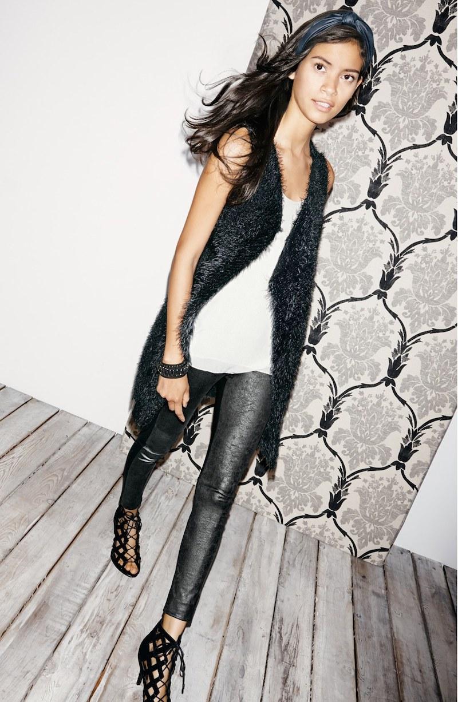 Lyssé Rue Faux Leather & Ponte Knit Leggings