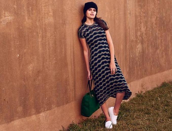 M Missoni Relief Ripple Knit Dress