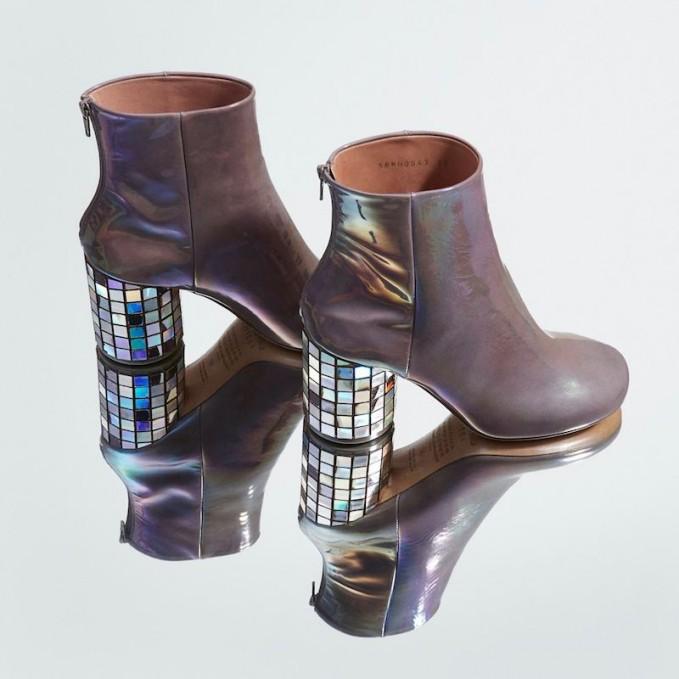 Maison Martin Margiela Grey CD Mosaic Ankle Boots