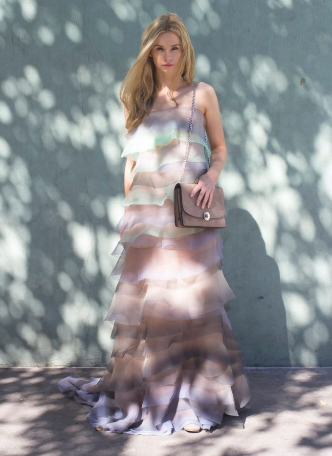 Marc Jacobs Tiered Crinkled-organza Gown