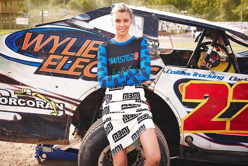 Marc by Marc Jacobs Rally Motocross Tea Length Dress
