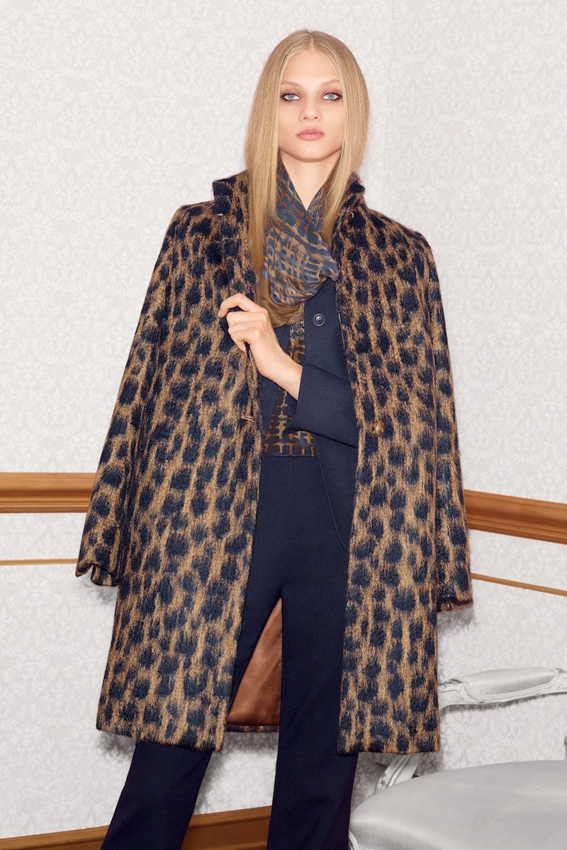 Max Mara Lauto Animal Print Coat
