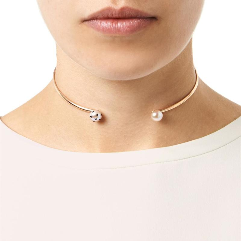 Nektar de Stagni Lady Bug Pink-pearl & Gold-plated Choker