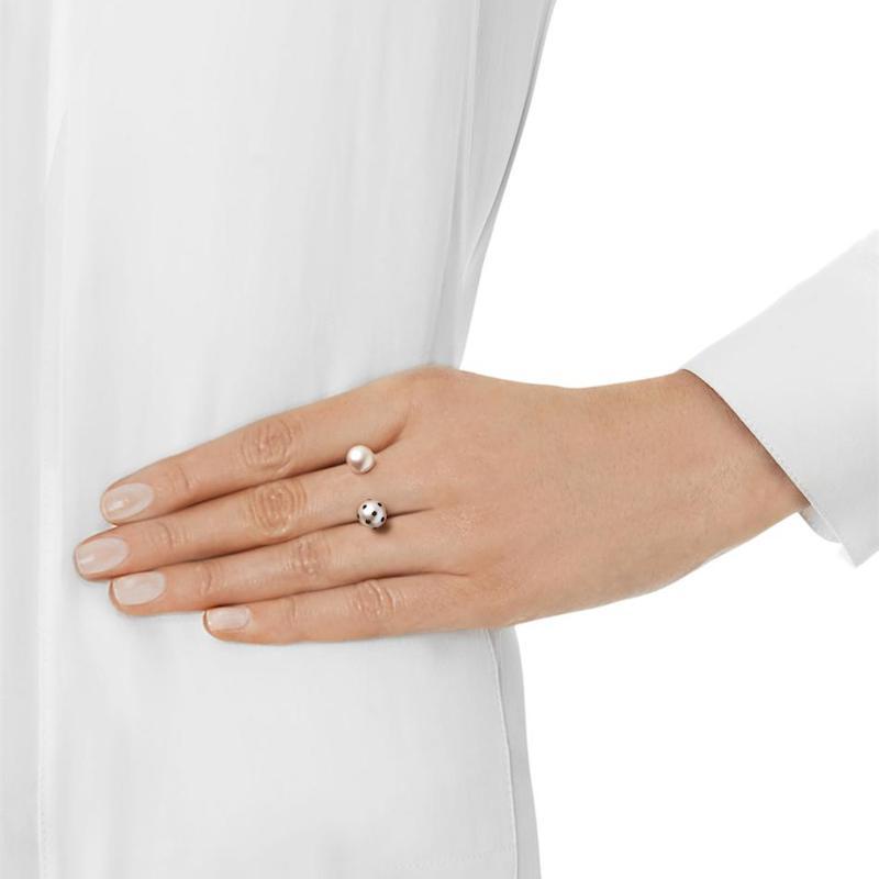 Nektar de Stagni Lady Bug Pink-pearl & Gold-plated Ring