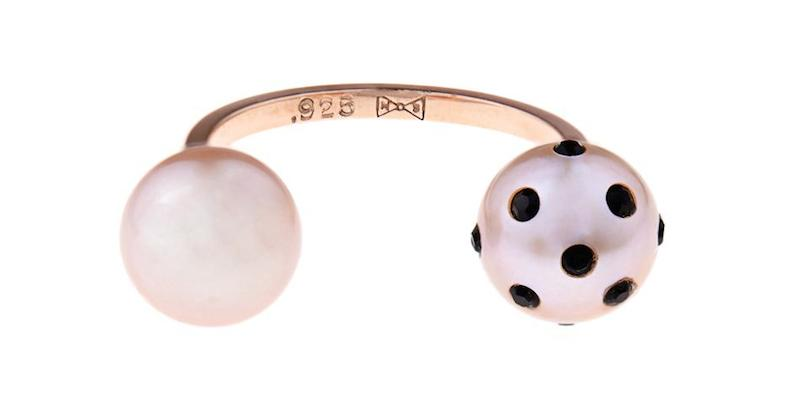 Nektar de Stagni Lady Bug Pink-pearl & Gold-plated Ring_1