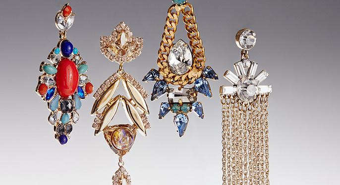 Outfit-Making Earrings at Gilt