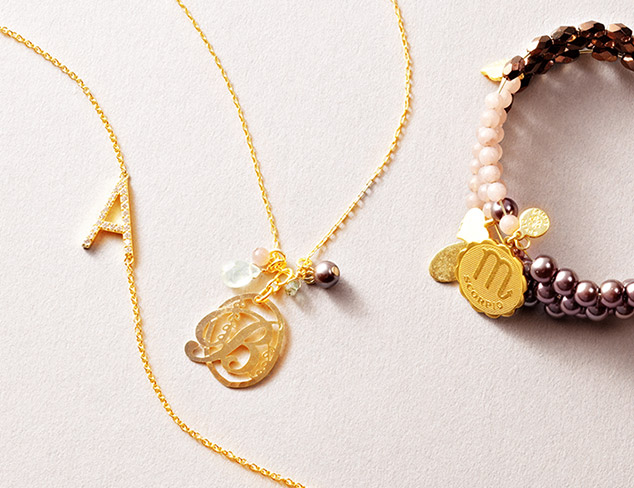 Personalized Jewelry: Initials, Zodiac & More at MYHABIT