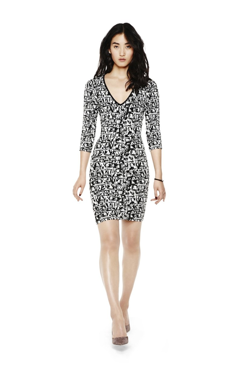 Plenty by Tracy Reese Nicole Graphic Knit Body-Con Dress